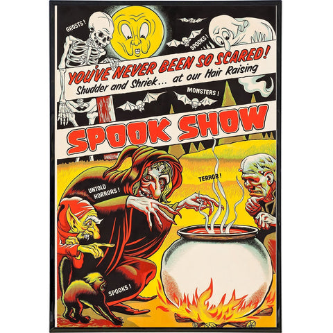 Vintage Spook Show Poster Print
