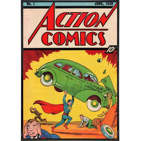 "Action Comics ""1st Superman Appearance"" Print - Falstaff Trading / Nerd culture, Horror, B-movies, cult classic - uniquely cool / falstafftrading.com"