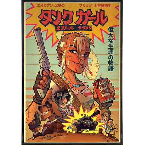 "Tank Girl ""Two Girls, One Tank"" Cover Print"