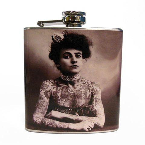 Tattoo Lady Flask - Falstaff Trading