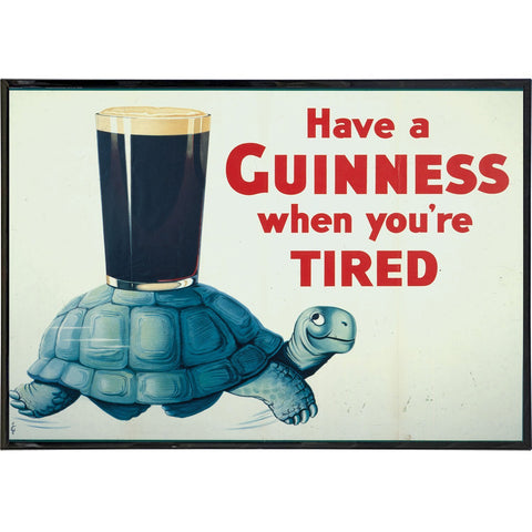 Guinness When You're Slow Ad Print
