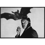 Vincent Price with a Bat Print