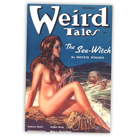"Weird Tales ""The Sea Witch"" Pulp Comic Postcard"