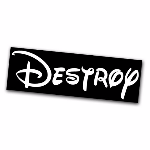Destroy Sticker - Falstaff Trading / Nerd culture, Horror, B-movies, cult classic - uniquely cool / falstafftrading.com