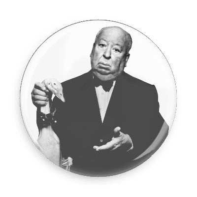 Alfred Hitchcock Button - Falstaff Trading