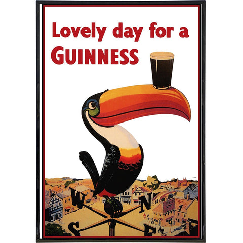 Lovely Day for a Guinness Vintage Poster Print