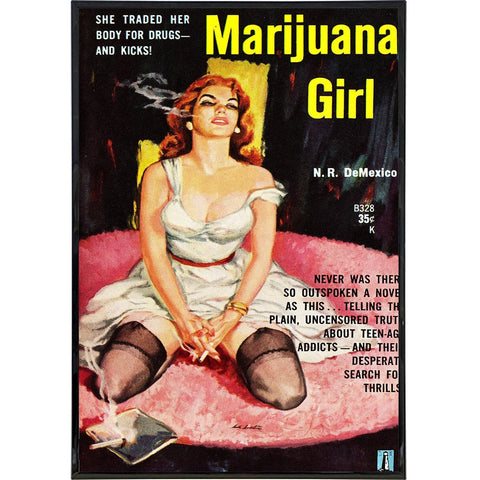 Marijuana Girl Comic Cover Print