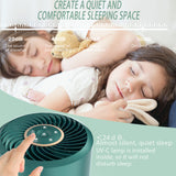Masmire Air Purifier with True HEPA Filter&UV,Air Purifier for Smokers,Effectively Filter Smoke, Virus, Pet Dander and Dust, Noise ≤40dB, Use Quietly in Home and Offices(AP01 Green)