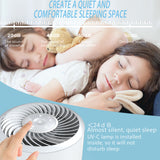 Masmire Air Purifier with True HEPA Filter&UV,Air Purifier for Smokers,Effectively Filter Smoke, Virus, Pet Dander and Dust, Noise ≤40dB, Use Quietly in Home and Offices(AP01 White)