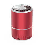 Masmire Air Purifier with True HEPA Filter&UV,Air Purifier for Smokers,Effectively Filter Smoke, Virus, Pet Dander and Dust, Noise ≤40dB, Use Quietly in Home and Offices(AP01 Red & Silver)