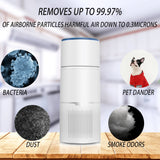 Masmire Air Purification and Humidification One Machine with True HEPA Filter & Active Carbon Filters ,Air Purifier for Smokers ,Effectively Filter Smoke, Virus, Pet Dander and Dust, Noise ≤40dB, Use Quietly in Home and Offices(AP30)