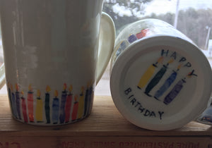 Who's Counting Happy Birthday Mugs, 14-16 0z.