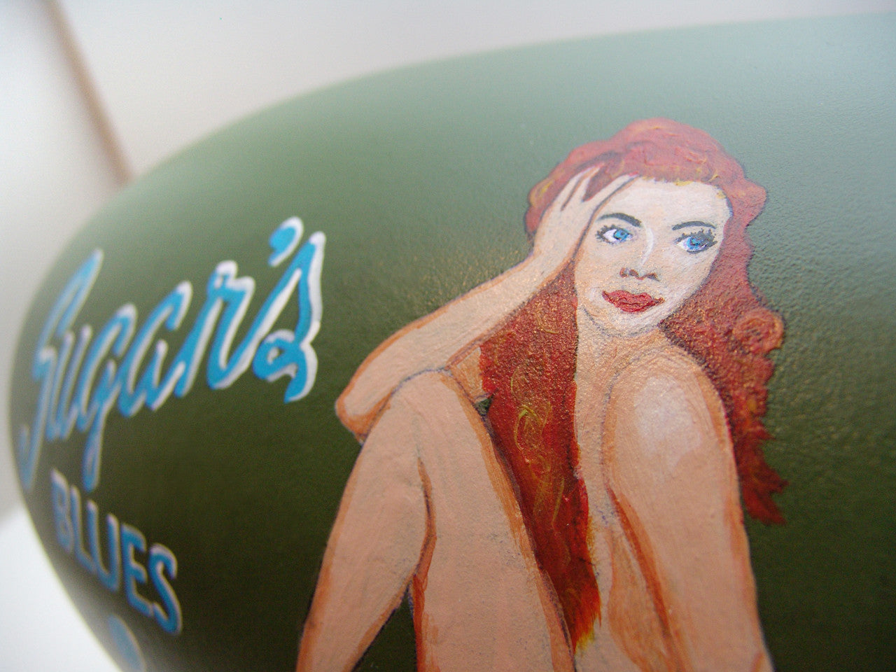 Nose Art on WW II Bomber Teardrop Loop Antenna
