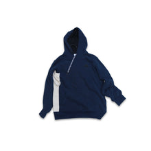 "Load image into Gallery viewer, Adidas Virgil ""Useless"" Tote Hooded Sweatshirt Navy"