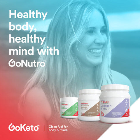 Glonutro collagen mct protein hsake that can be used as a meal replacement and supplement when working out