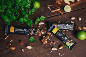Collagen protein bars for ketogenic and low carb diets