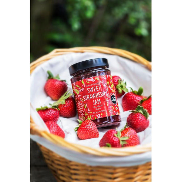 Strawberry stevia sugarfree jam for keto, lowcarb and sugarfree diets