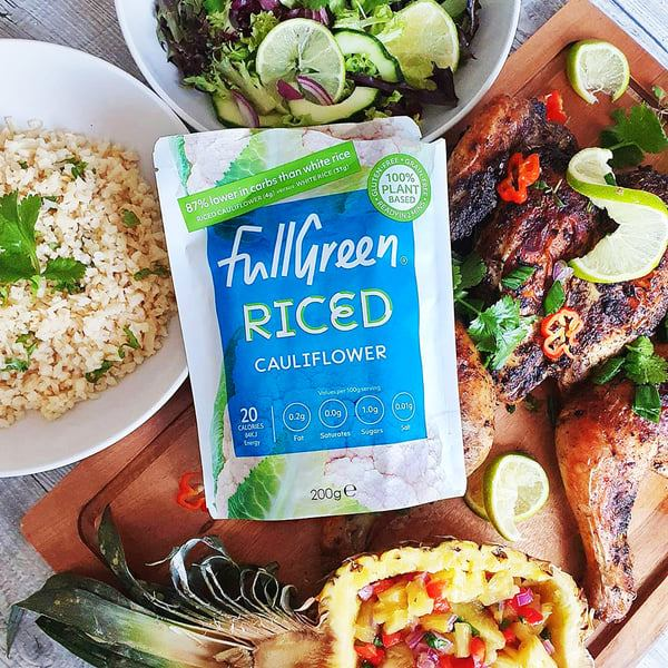 Cauliflower rice for paleo, vegan and keto diets and healthy alternative to rice