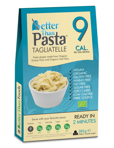 Better Than Organic Pasta Tagliatelle Noodle Shapes 385g