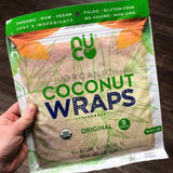 NUCO Organic Coconut Wraps (Five Wraps per pack)
