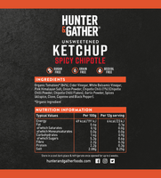 Unsweetened Spicy Chipotle Ketchup (250g)