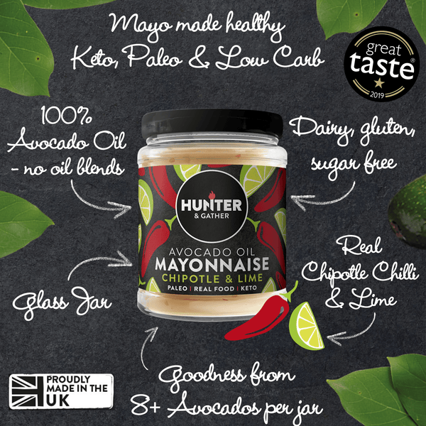 Hunter & Gather Chipotle Lime Avocado Oil Mayonnaise 175g