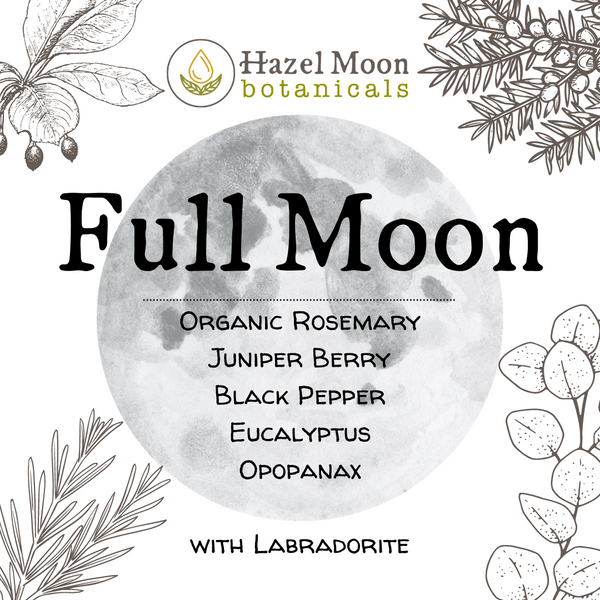 Lunar Cycle Synergy: Crystal-Infused Pure Essential Oil Blends