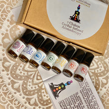 Load image into Gallery viewer, 7 Chakras Crystal-Infused Mini Roll-on Set