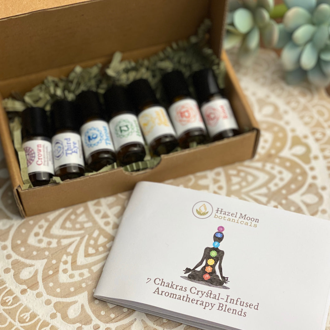 7 Chakras Crystal-Infused Mini Roll-on Set