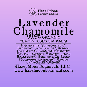 Lavender Chamomile Tea-Infused Lip Balm