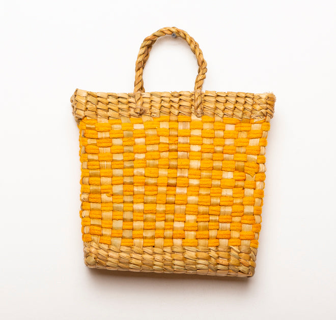 BASKET VINTAGE YELLOW L