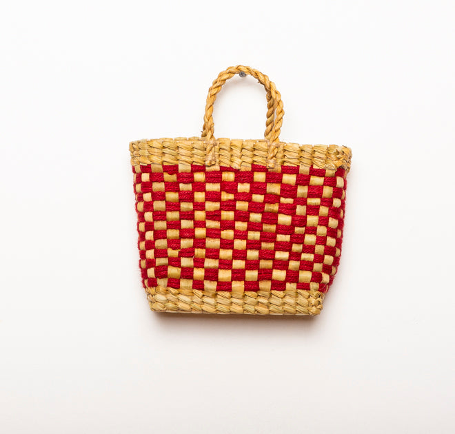 BASKET VINTAGE RED S