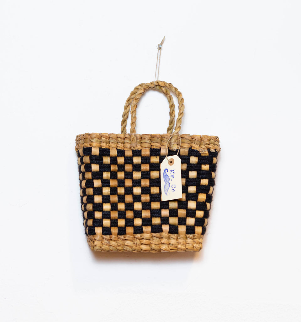 BASKET VINTAGE BLACK S