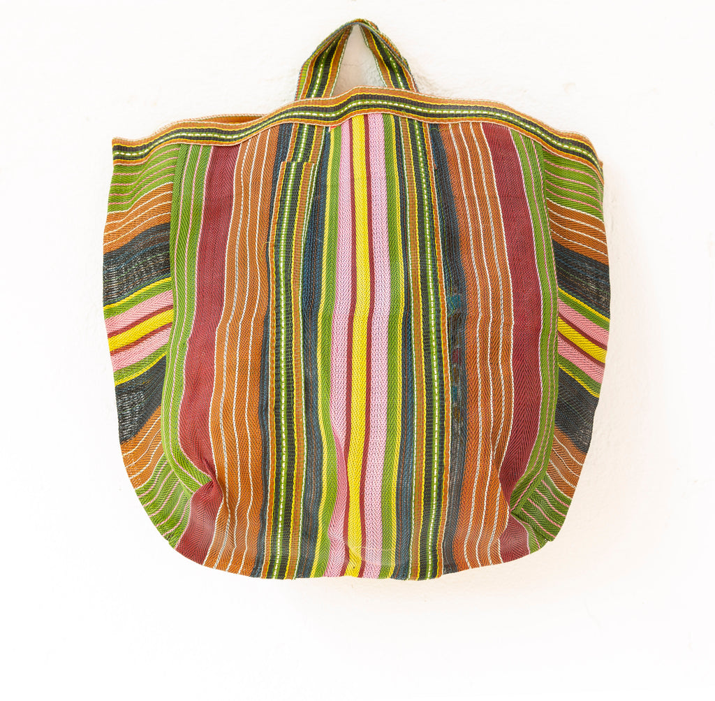 MARKET BAG GREEN, PINK AND YELLOW  <3