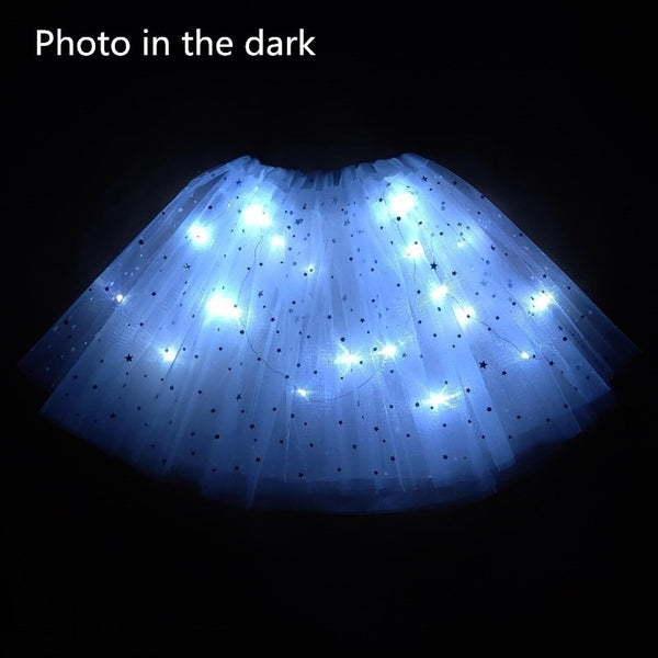 LED Star Light Star Bright Blue Tutu Skirt