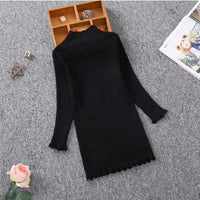 Sleek and Sophisticated Black Knitted Dress