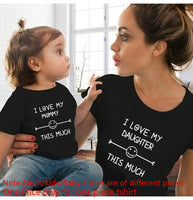 Mother Daughter Matching Love T-Shirts