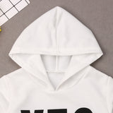 Hooded Yes Dress (12M-5T)
