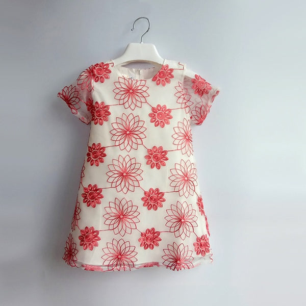 Embroidered Flower Dress (2-5T)