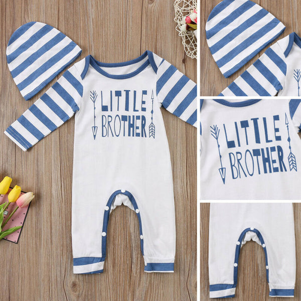 Striped Little Brother Romper