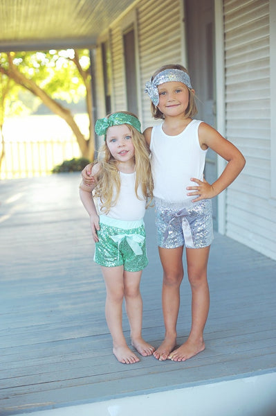 Glittery Sequin Shiny Shorts (3M-5T)
