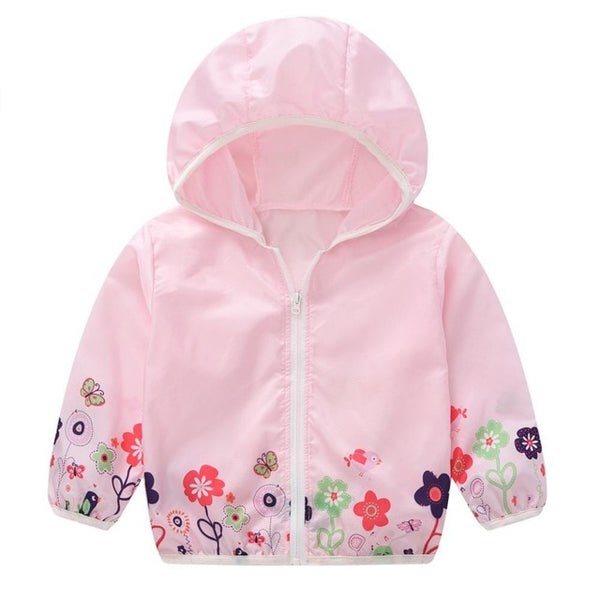 Spring Garden Flower Windbreaker
