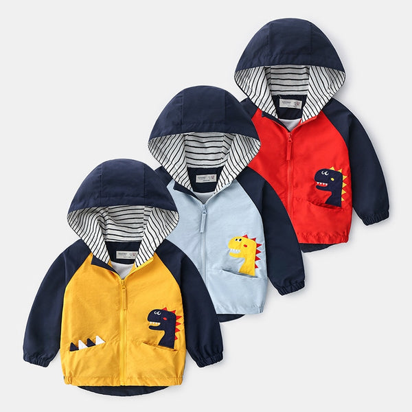 Peek-a-Book Dinosaur Hooded Windbreaker (18M-6Y)