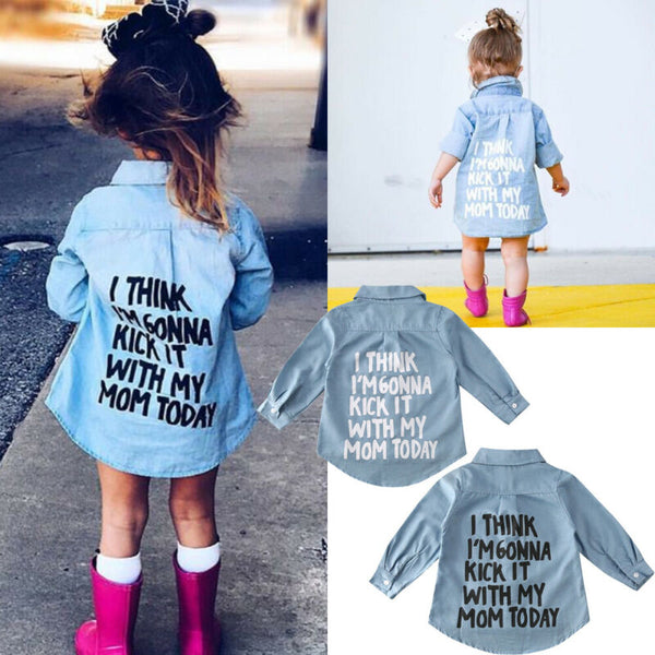 Kick It with Mom Today Shirt (3T-7Y)
