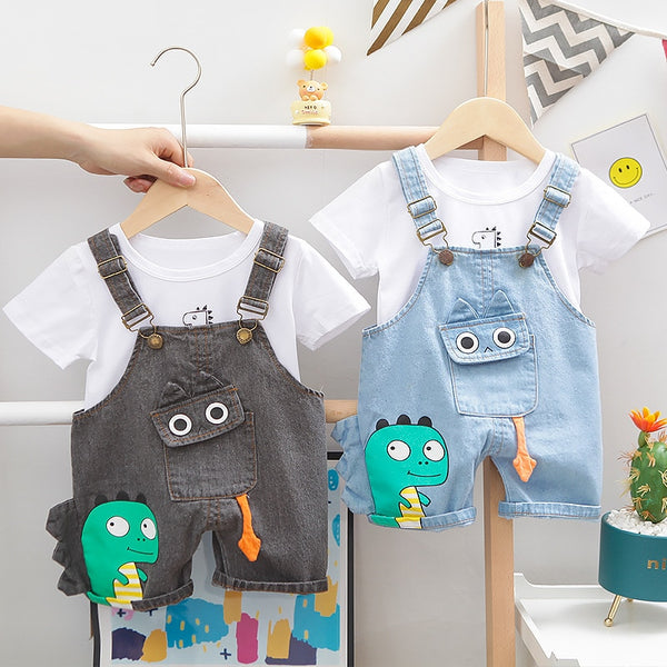 Dinosaur Pocket Overalls Set (12M-4T)