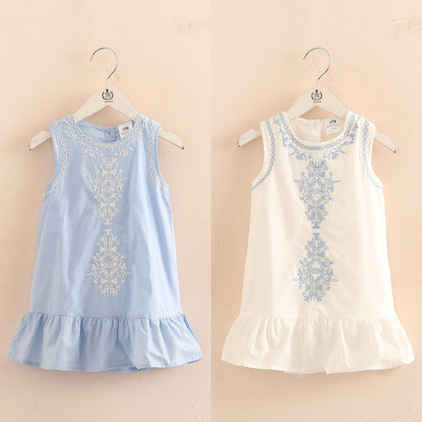 Lace Embroidery Sundress (2T-10Y)