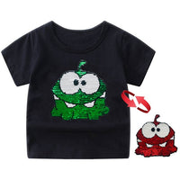 Reverse Sequin Flip Animal T-Shirt (3T-12Y)