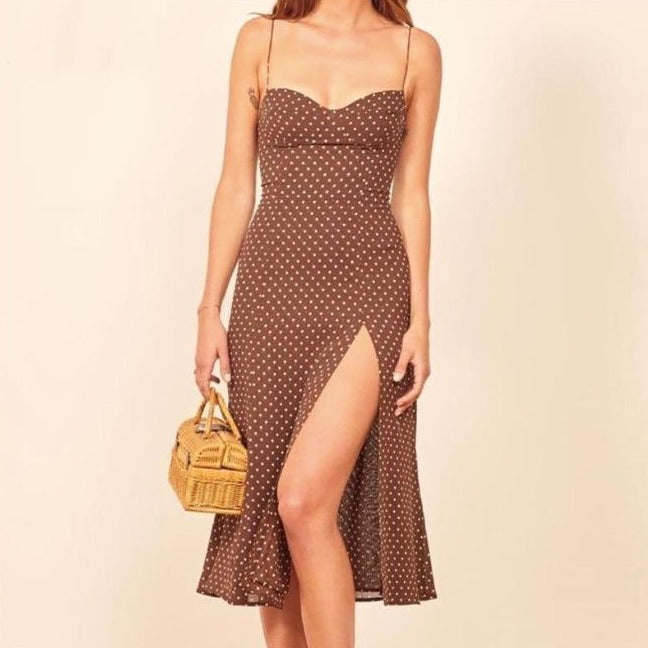 Chic Brown Sexy Dress - DreamBoutiquee