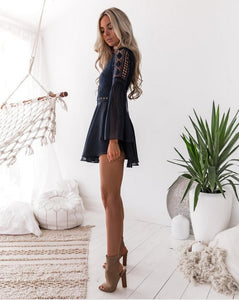 Bohemian Mini Dress - DreamBoutiquee