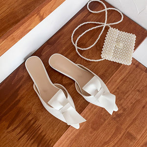 Pointed Flat Bow Slippers - DreamBoutiquee